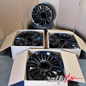 22 Inch Black Wheels Fits Cadillac Escalade Chevy Silverado 1500 22x9 Rims Set 4