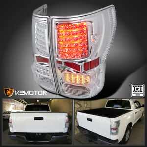 For Toyota 2007 2013 Tundra Pickup Clear Led Tail Lights Rear Brake Lamps Pair