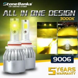 Hb4 9006 Led Headlight Bulb Low Beam 3000k Golden Yellow 100w 20000lm Drl Lamp
