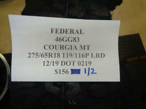 2 New Federal Couragia Mt 275 65 18 119 116p Lrd Tires Wo Label 46gg83 Q9