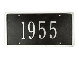 Corvette Custom License Plate With Silver Numbers Choose Car Year