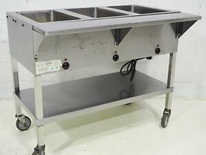 Kti Sw 3h 120v 3 Well Electric Steam Table Buffet Service Line Sn Ktl163003