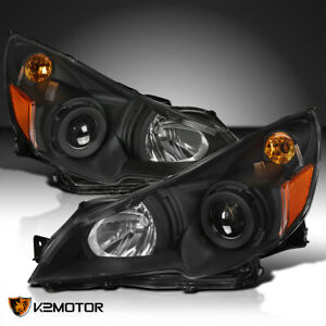 For Black 2010 2014 Subaru Legacy Outback Projector Headlights Left right