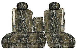 Front Set Seat Covers Fits Ford F150 Truck 2001 2003 40 60 Low Back W Console