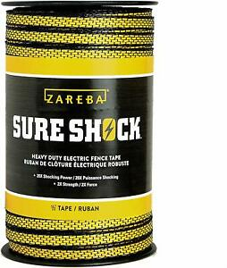 Zareba Hdt656yh z Heavy duty Sure Shock Electric Fence Tape Weather resistant U