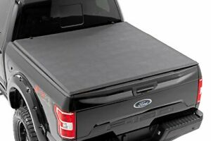 Rough Country Soft Tri Fold Fits 2015 2020 Ford F150 5 5 Ft Bed Tonneau Cover
