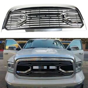 Fit For 2013 2018 Dodge Ram 2500 3500 Front Chrome Grille Replacement Shell