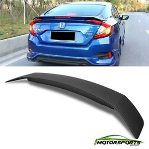 For 2016 2018 Honda Civic Light Rs Abs Plastic Rear Trunk Boot Lip Wing Spoiler