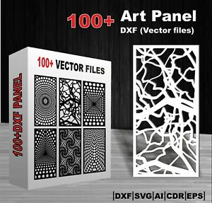 100 Dxf cdr File Art Panel For Laser Cut Plasma Cut And Cnc Router Machine