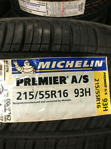 2 New 215 55 16 Michelin Premier A s Tires