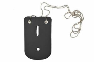 Leather Universal Badge Holder W neck Chain For Police Officer Security Fire