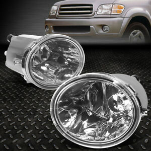 For 00 06 Toyota Tundra 07 Sequioa Clear Lens Bumper Driving Fog Light Lamps