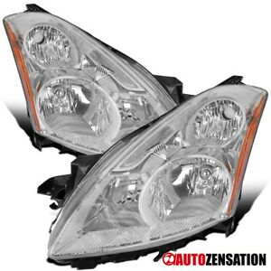 For 2010 2012 Nissan Altima Sedan Clear Headlights Head Lamps Pair Left Right
