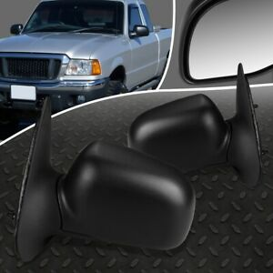For 98 03 Ford Ranger Pair Oe Style Manual Adjustment Side Rear View Door Mirror