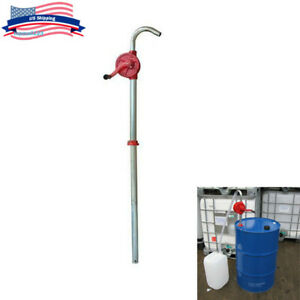 Cast Iron Rotary Drum Pump 55 Gallon Oil Drum Barrel Hand Pump Easy Operate Tool