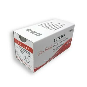 2 0 Training Surgical Sutures Polyester Braided Pack Of 12 Sterile