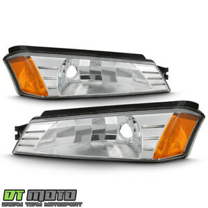 2002 2006 Chevy Avalanche W Body Cladding Chrome Bumper Lights Signal Lamps Set