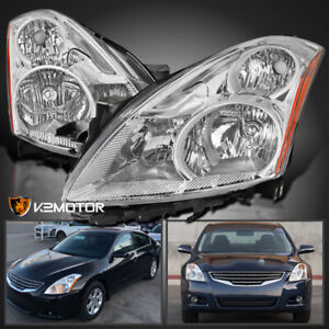For 2010 2012 Nissan Altima 4dr Sedan Clear Headlights Lamps Left right 10 11 12