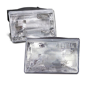 Headlights Pair Halogen Left Right Set Fits 1993 1998 Jeep Grand Cherokee