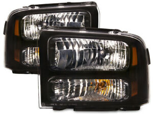 Fits 99 04 Ford Super Duty Excursion Headlights Conversion Set For Sealed Beam