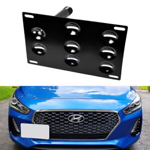 Front Bumper Tow Hook License Plate Mounting Bracket For 17 19 Hyundai Elantra