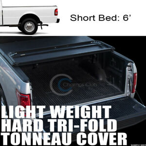 Tri Fold Hard Tonneau Cover Lw 83 11 Ford Ranger 94 Mazda B Series 6 Short Bed