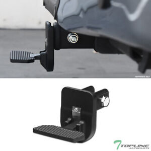Topline 2 Trailer Tow Hitch Receiver Folding Step Bar For Ford T01 Matte Black