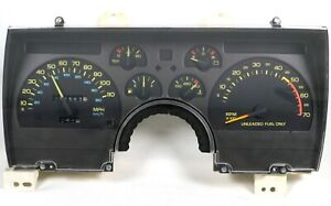 1990 1992 Camaro V8 110mph Gauge Cluster Speedometer W Only 73k Miles Used Gm