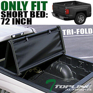 Topline For 1983 2011 Ford Ranger 6 Ft 72 Bed Tri Fold Soft Vinyl Tonneau Cover