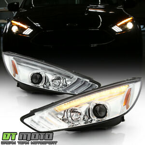 2015 2018 Ford Focus Halogen Led Drl Sequential Projector Headlights Headlamps