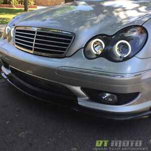Black 2001 2007 Mercedes Benz W203 C230 C240 C320 Ccfl Halo Projector Headlights