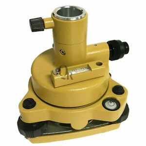 Yellow Tribrach Adapter With Optical Plummet For Total Station Surveying