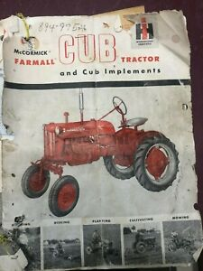 Sales Brochure For Farmall Cub Circa 1954 With Registration Certificate