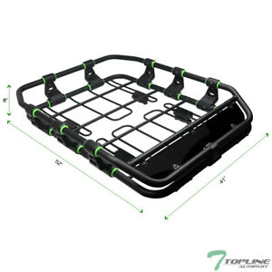 Topline For Jeep Modular Hd Roof Rack Basket Storage wind Fairing Matte Black