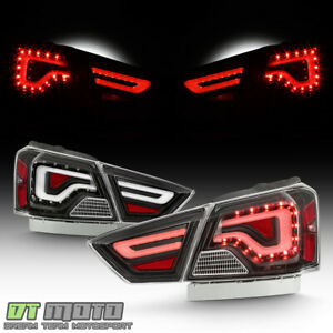 Black 2014 2019 Chevy Impala Led Light Tube Tail Lights Brake Lamps Left Right