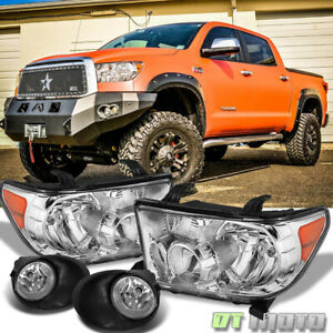 For 2007 2013 Toyota Tundra Headlights Bumper Fog Lamps Lights Left Right 07 13