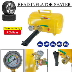 Handheld Tire Bead Inflator Seater Air Blaster Tool With Trigger 5gallons Yellow