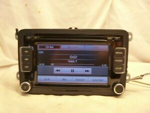 Vw Volkswagen Rcd 510 Touch Screen Radio 6 Disc Cd Mp3 Code 1k0035180af Nt22