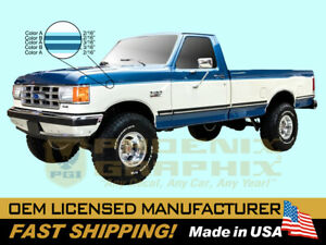 1991 1992 1993 1994 1995 1996 Ford F150 F250 F350 Truck Stripe Tu Two Tone Decal