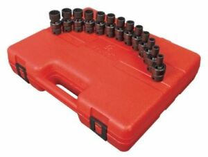 Sunex 13pc 3 8 Metric 12pt Universal Impact Sockets Set Tools Drive Swivel 3691