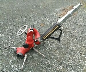 Elkhart Fire Monitor Water Cannon Deck Gun Master Stream Deluge Smooth Nozzle