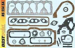 New 1952 1953 1954 1955 1956 Willys Jeep F head 6 161 Full Engine Gasket Set