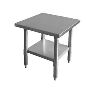 Thunder Group Slwt43012f 30 X 12 X 35 430 Stainless Flat Top Work Table