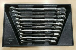 Snap on Soexrm710 Metric Ratcheting Box open End Wrench Set 10 19mm Pre owned