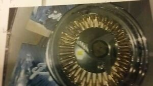 New Gold Wire Wheels 14 Inch 4 Lug Also 5 Lug