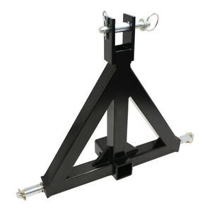 3 Point 2 Receiver Trailer Hitch Category 1 Tractor Tow Drawbar Adapter New