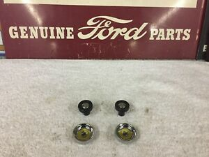 1956 Ford Or T Bird Radio Knobs 4 Piece Set Show Quality