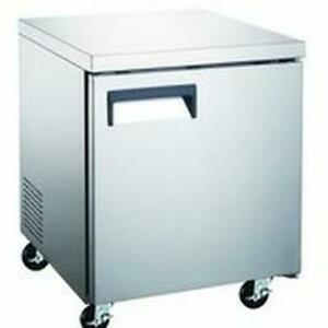 Falcon Food Service 72 w 2 Door Stainless Steel Undercounter Refrigerator
