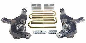 Lift Kit 4 Front Spindles 2 Rear Aluminum Blocks Fits 2001 09 Ford Ranger 4x2