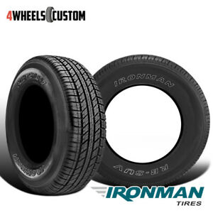 2 X New Ironman Rb Suv 235 70 17 107t All Season Traction Tire